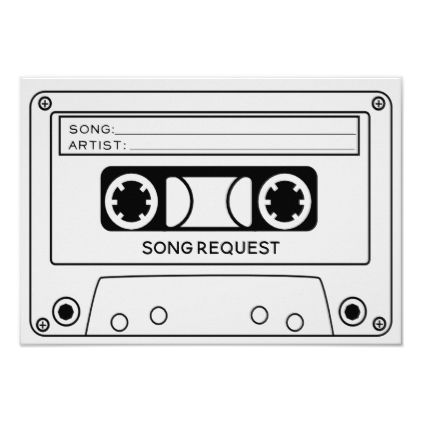 Song Request Rsvp Card Zazzle Com Song Request Songs Aesthetic Drawing