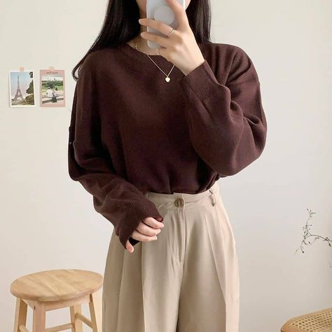 Women soft outfits inspire stylish winter 2020 gentle k-pop fashion vsco highschool