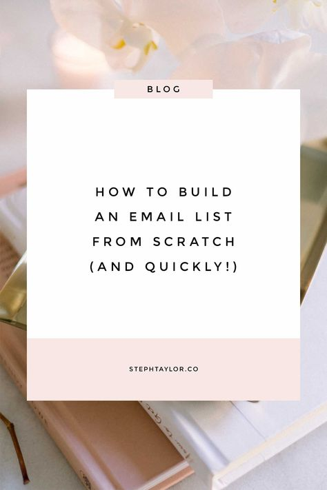 How exactly do you build an email list from scratch? Is it as simple as just adding a box to your website and asking people to sign up for your newsletter? No, it's not. Here is how to build an email list for your business. #emailmarketing #listbuilding #emaillist