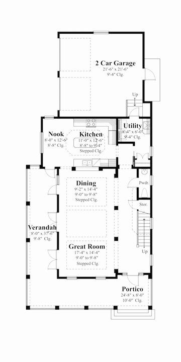 House Plans 35 Feet Wide Best Of House Plans For Narrow Lots Unique House Plans Craftsman Bungalow House Plans Narrow Lot House Plans