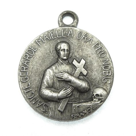 US Jewels And Gems Polished 3//4in Sterling Silver Saint St Maria Goretti Medal Pendant Necklace