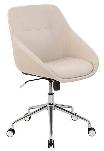 Elle Decor Taissy Bonded Leather Mid Back Task Chair Ivory Item