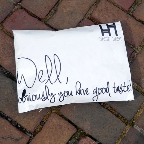 Haute Habit uses our Custom Branded Tyvek Shipping Envelopes for apparel packages. #productpackaging