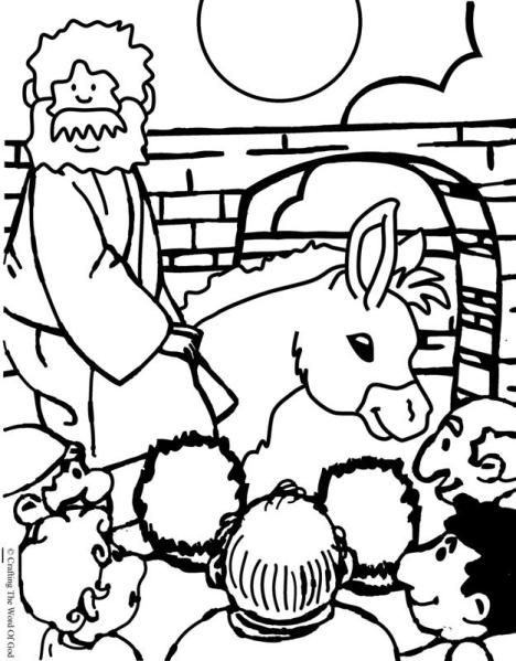 Jesus Enters Jerusalem Coloring Page Sunday School Crafts