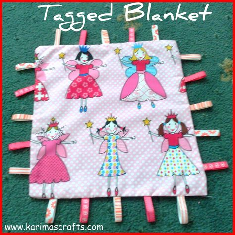 Tag Comforter In Pirate Fabric Handmade Taggy Blanket Cute !