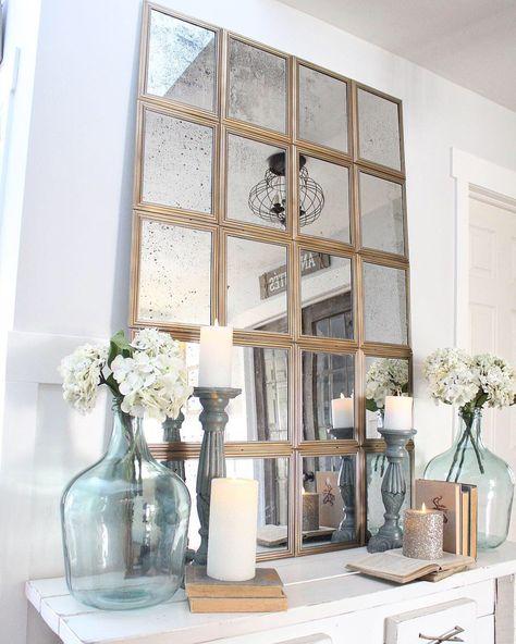 Dollar Tree Window Pane Mirror