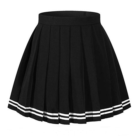 Shop tennis skirts and skorts from DICK'S Sporting Goods. Find a variety of tennis skirt attire, consisting of tennis skirts with pockets, pleated ten. White Pleated Skirt, Black And White Skirt, Stripe Skirt, Pleated Skirts, Black White, Large Black, Edgy Outfits, Cute Casual Outfits, Skirt Outfits