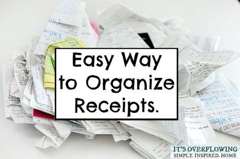 Keeping Receipts Organized @ItsOverflowing.com.com.com.com.com.com