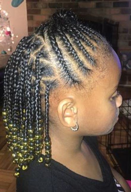 Braids With Beads For Little Girl New Natural Hairstyles Hair Styles Natural Hair Styles Girl Hairstyles