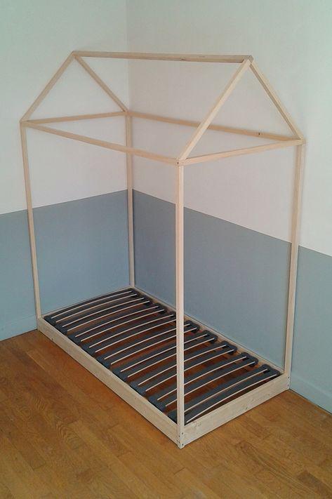 Lit Cabane Autour Dun Sommier 70x140 Pour La Future Chambre De Mon