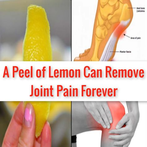 A Peel of Lemon Can Remove Joint Pain Forever. #jointpain #JointPainrelief #kneepain #HipProblems #exercises #Tryathome #Gym #Fitness