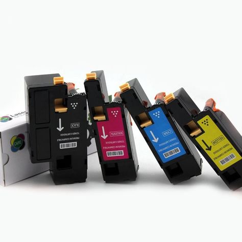 4pk Comp Toner Cartridges for Xerox Phaser 6010 6000 Black Cyan Magenta Yellow