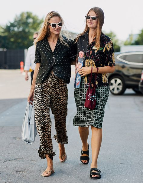 The main rule when it comes to prints this season? There are no rules. Anything goes, from floral pajama blouses mixed with leopard-print skirts, to patterned shirts (shout out to Prada for the most extra design of the season) with geometric midis. Just throw it all on — then throw on some more for good measure.