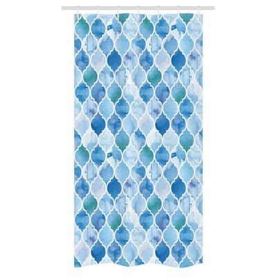 East Urban Home Moroccan Stall Shower Curtain Single Hooks Size