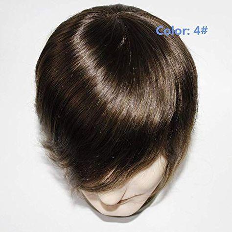 New Lumeng Men Toupee Male Hair Unit Wigs For Men Brown