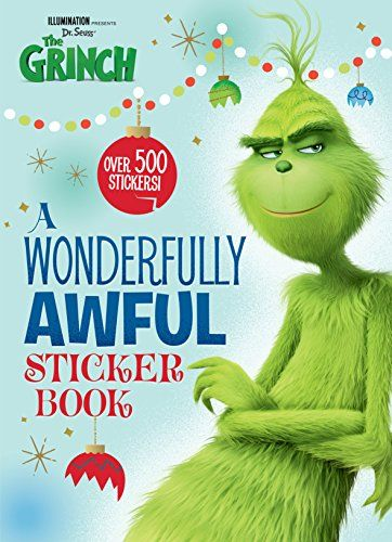50 Grinch Activities And Grinch Party Ideas Natural Beach Living Grinch Sticker Book Christmas Picture Books