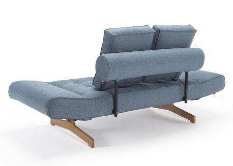 Canape Lit Design Scandinave Avec Pietement En Bois De Chene