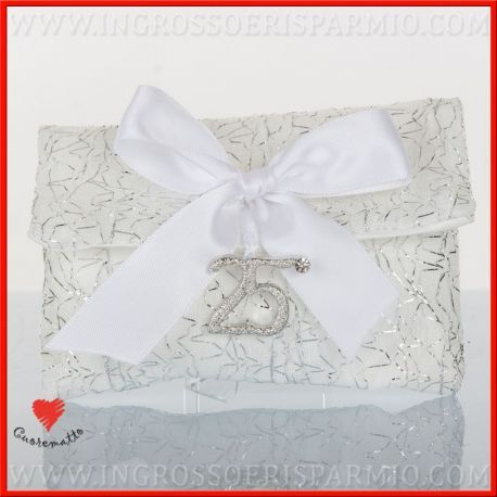 Portaconfetti 25 Anni Di Matrimonio Ricamo Argento Cuorematto Idea Originale Nuova Collezione Nozze D Argento Matrimonio Bomboniere