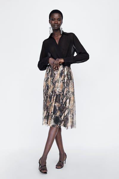 1fd3032f7 Εικόνα 1 του ΦΟΥΣΤΑ ΕΜΠΡΙΜΕ ΦΙΔΙ από Zara   outfits   Faldas, Faldas ...