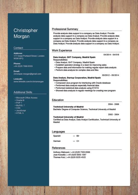 Cool Create A Cv Template Free Idea