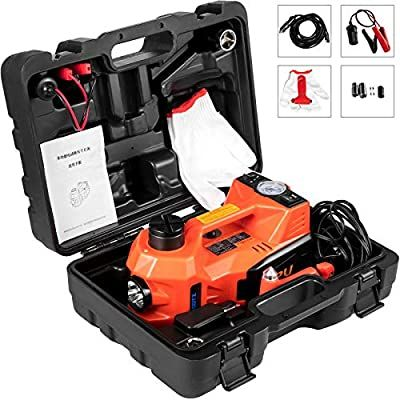 Flowerw 12v Dc 5t Automatic Car Jack Electric Car Repair Tool Kit Car Electric Jack Electric Hydraulic Floor Jack With Safety Hammer B In 2020 Car Jack Bike Lift Car