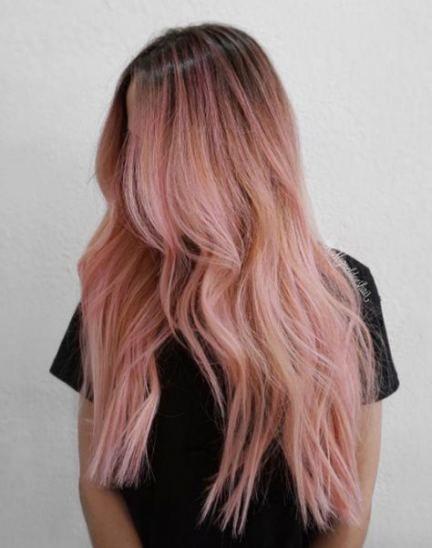 63 Ideas Hair Dark Roots Summer For 2019 Pink Blonde Hair Pink Hair Highlights Blonde Hair With Pink Highlights