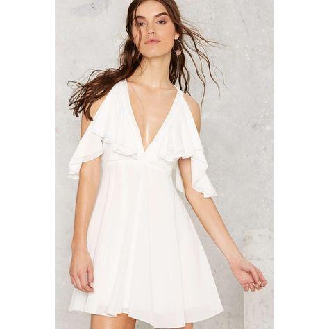 ebfa46107bd Nasty Gal Bold Shoulder Mini Dress ( 68) ❤ liked on Polyvore featuring  dresses