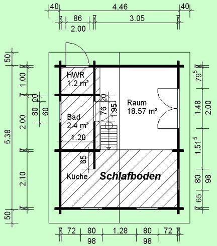 24qm Blockhaus Rügen HavelHaus Haus, Gartenhaus und