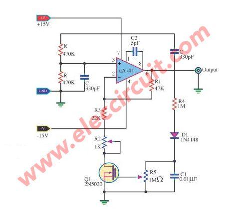 wien-bridge-oscillator-with-FET | Simple Electronic circuits ...