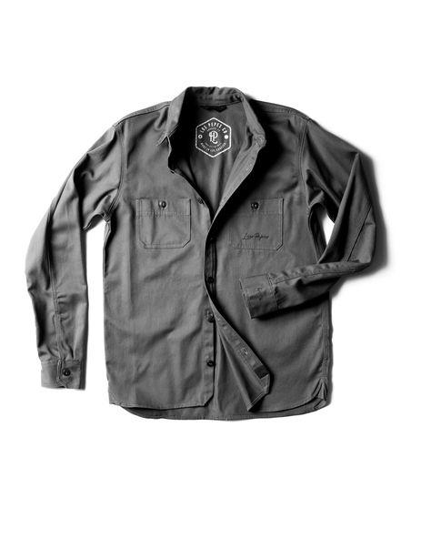 Concept #3 - LP Button-Down SAMPLE - XXL / Charcoal
