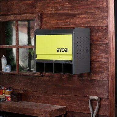 Ryobi Lockable Door Hanging Wall Storage In 2020 Wall Storage Ryobi Door Hanging