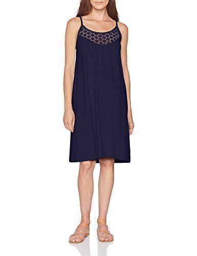 S Oliver Damen 14 806 82 7870 Kleid Blau Dark Steel Blue 5835 40 Kleider Damen S Oliver