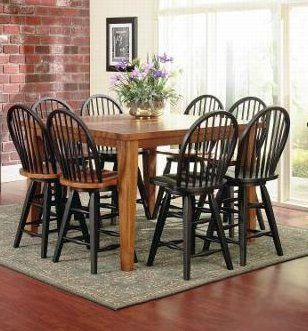 Urban Country 36x54 Pub Table With 18 Leaf 4 Windsor Barstools Solid Wood