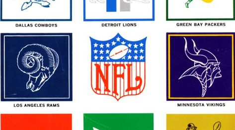 Classic NFL Logos from 1964