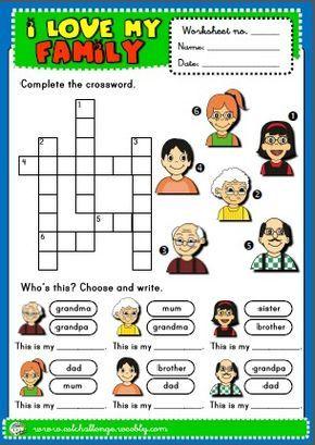 Family Worksheet Com Imagens Atividades Em Ingles Para