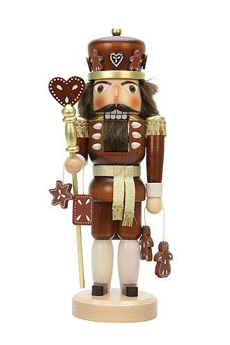 Nutcracker Gingerbread King natural wood (37,5cm/15in) by Christian Ulbricht