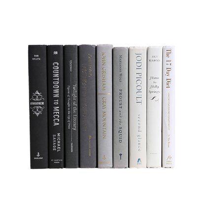 Booth Williams 9 Piece Gray Ombré Colorpak Authentic Decorative Book Set Perigold Book Decor Book Set Books