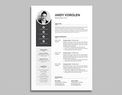 Check Out New Work On My Behance Profile Resume Http Be Net Gallery 103144519 Resume In 2020 Unique Resume Template Resume Resume Template