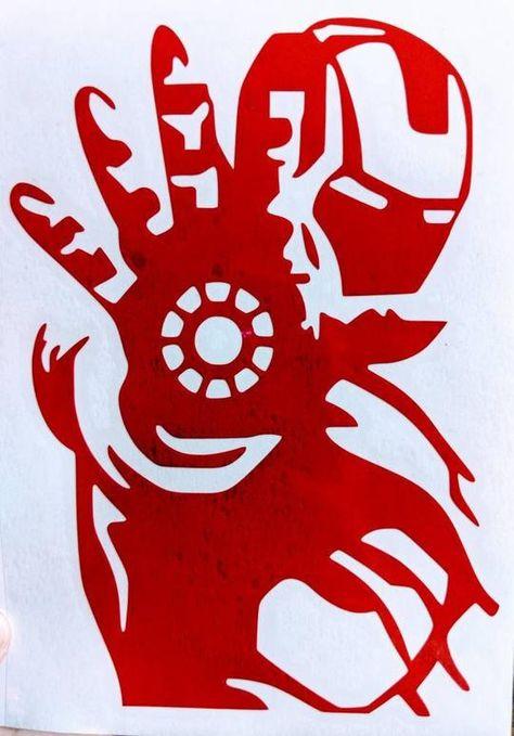 Avengers Infinity War Ironman Vinyl Decal for Car, Home, Laptop, Yeti – FTW Custom Vinyl