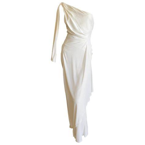 Thierry Mugler Paris Vintage Eighties Ivory White One Shoulder Goddess Dress Source by White Dresses vintage Greek Goddess Dress, Greek Dress, Chic Outfits, Dress Outfits, Fashion Outfits, Jeanne Lanvin, Elegant Dresses, Beautiful Dresses, Dress Png