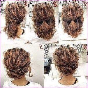 Wedding Hairstyles For Short Hair Updos In 2020 Short Thin Hair Short Hair Tutorial Medium Curly Hair Styles