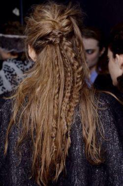 Messy braids.