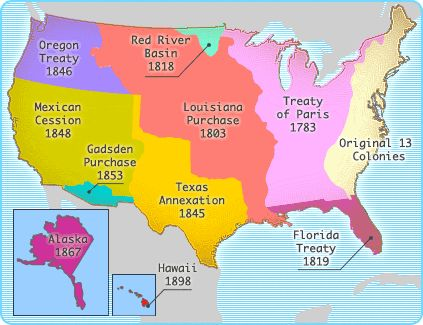 grew from 13 colonies to 50 states this is another growth map of the u