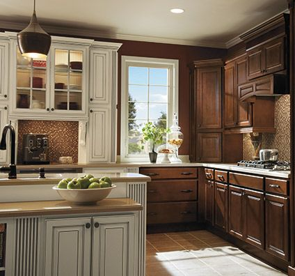 Heritage Kitchen Cabinets In Maple Bison Finish With Ivory