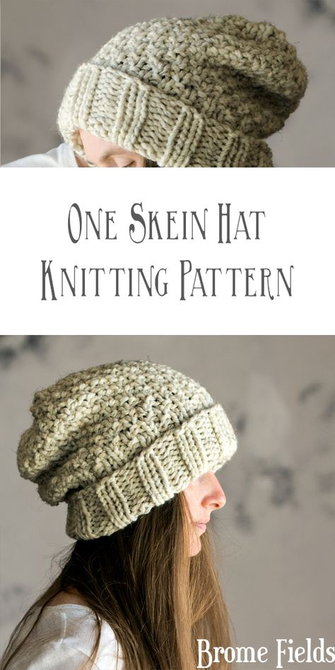 One Skein Hat Knitting Pattern : Innocence by Brome Fields