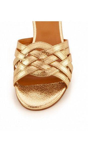 styles de mode qualité-supérieure bon out x Rivecour sandales 34 cuir gold tressé en 2020 | Sandales, Cuir et ...