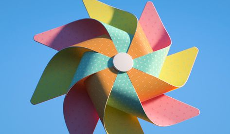 Cinema 4D - How to Create a Pinwheel Tutorial