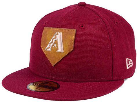 new arrival 758ff 92769 New Era Arizona Diamondbacks The Logo of Leather 59FIFTY Fitted Cap