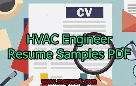 5 HVAC Engineer Resume Samples PDF - CV Formats | HVAC (Heating