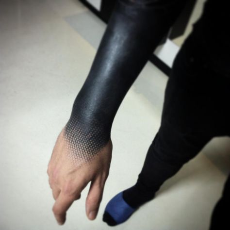 Tattoo Andrey Anich - tattoo's photo In the style Blackwork, Male, Ornamen